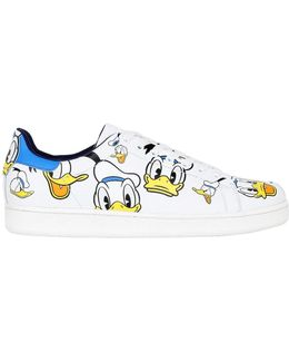 Donald Duck Printed Leather Sneaker