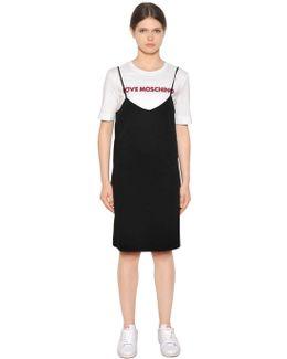 Layered Cotton Jersey Dress