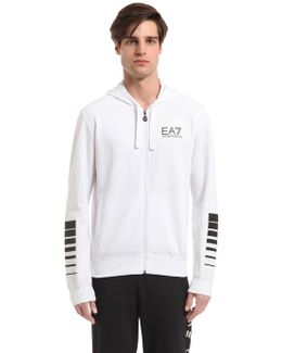Logo Stretch Cotton Sweatshirt