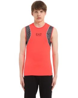 Nylon & Mesh Running Tank Top