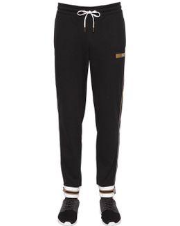 Cotton Sweatpants W/ Metallic Details