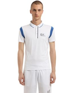 Logo Nylon Tennis Polo Shirt