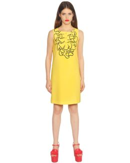 Printed Ruffle Techno Cady Dress