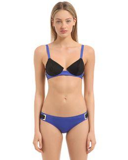 Two Tone Bikini Top With Underwire