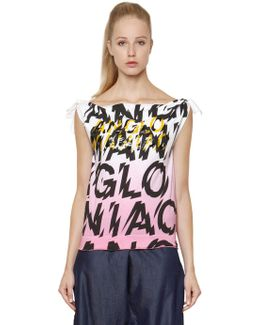 Anglo Maniac Knotted Cotton Tank Top