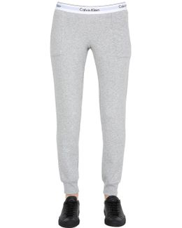 Logo Trim Cotton Sweatpants