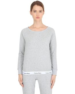 Logo Trim Cotton Sweatshirt