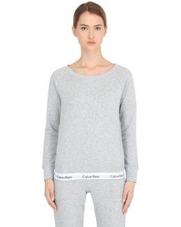 Logo Trim Cotton Sweatshirt