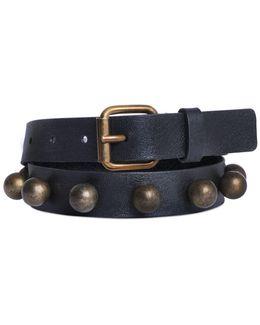 25mm Studded Nappa Leather Belt