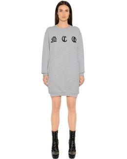 Mcq Embroidered Cotton Sweatshirt Dress
