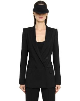 Stretch Cool Wool & Silk Crepe Jacket