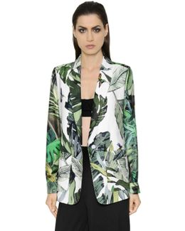 Tropical Print Twill & Natté Jacket
