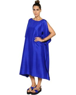 Light Shantung Caftan Dress