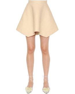 Asymmetric Flared Linen Skirt
