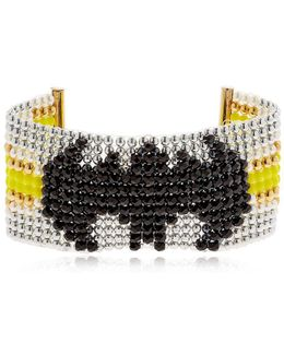 Batgirl Beaded Cuff Bracelet