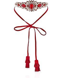 Alcantara Flower Necklace