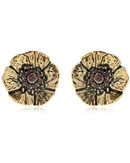 Cloe Clip-on Earrings With Garnets