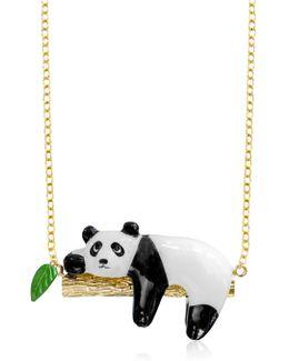 Panda On A Branch Necklace