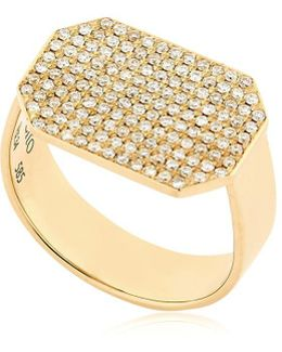 Infinity Diamond Pave Ring