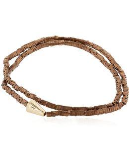 Gold Double Wrap Arrow Bracelet