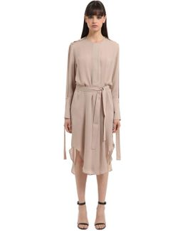 Double Georgette Trench Dress