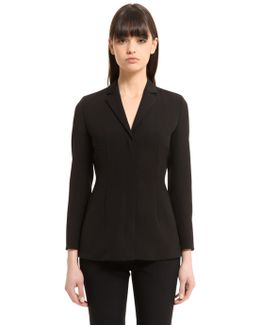 Stretch Silk Twill & Tulle Jacket