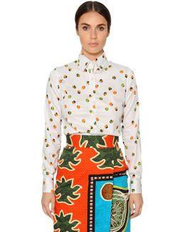 Printed Brushed Cotton Poplin Shirt