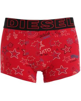 Xmas Printed Cotton Jersey Boxer Briefs