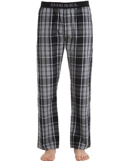 Plaid Cotton Pajama Pants