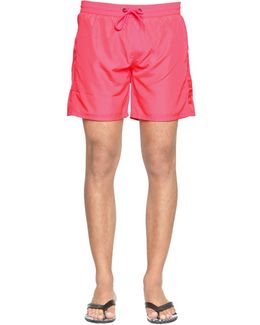 Mid Neon Nylon Swim Shorts