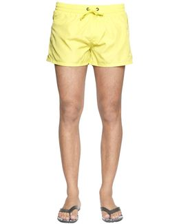 Short Neon Nylon Swim Shorts