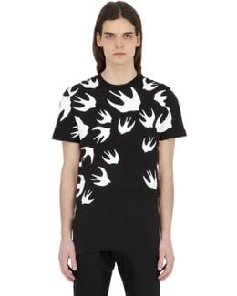 Swallows Printed Cotton Jersey T-shirt