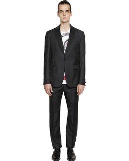 Rose Jacquard Grain De Poudre Wool Suit