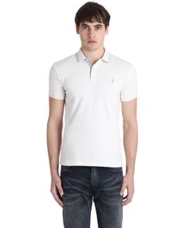 Slim Fit Washed Cotton Piqué Polo Shirt