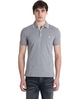 Slim Fit Washed Cotton Piqué Polo Shirt