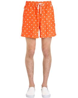 Polka Dot Logo Nylon Swim Shorts