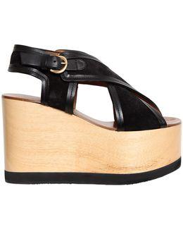 110mm Zlova Suede Crisscross Sandals