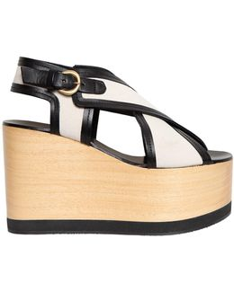 110mm Zlova Canvas Criss Cross Sandals