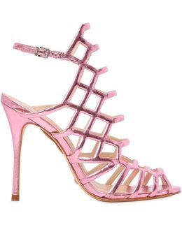 110mm Juliana Metallic Leather Sandals