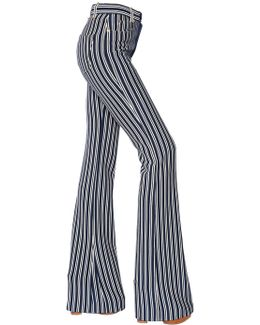 Striped Milano Jersey Flared Pants