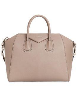 Medium Antigona Grained Leather Tote Bag