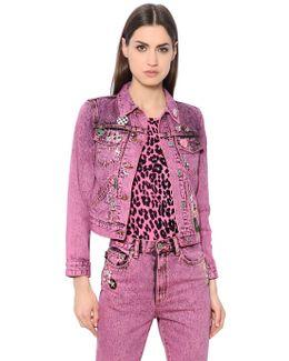 Embellished Washed Denim Jacket