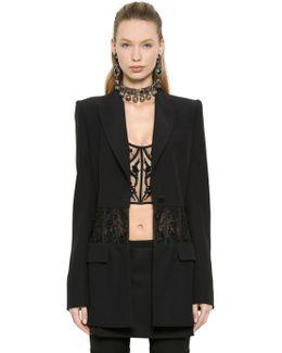 Embroidered Corset Viscose Crepe Jacket