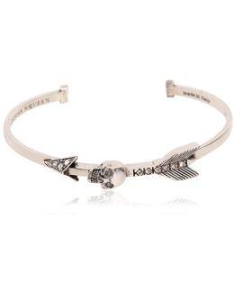 Skulls & Arrows Bracelet W/ Swarovski