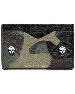 Camouflage Printed Leather Card Holder