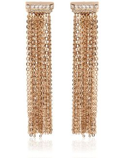 Chain Fringed Clip-on Earrings