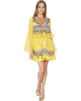 Ruffled Silk Georgette Dress
