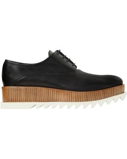 50mm Leather Lace-up Shoes