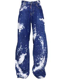 Tie & Dye Jazz Cotton Denim Jeans