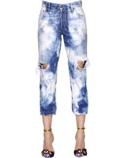 Bleached Tomboy Cotton Denim Jeans